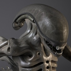 Alien Xenomorph Rigged 3D Model