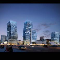 Skyscraper Office Building 025 3D Model