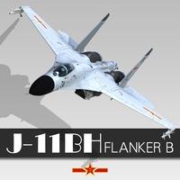 J-11BH 3D Model