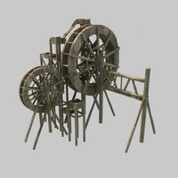 waterwheel 3D Model