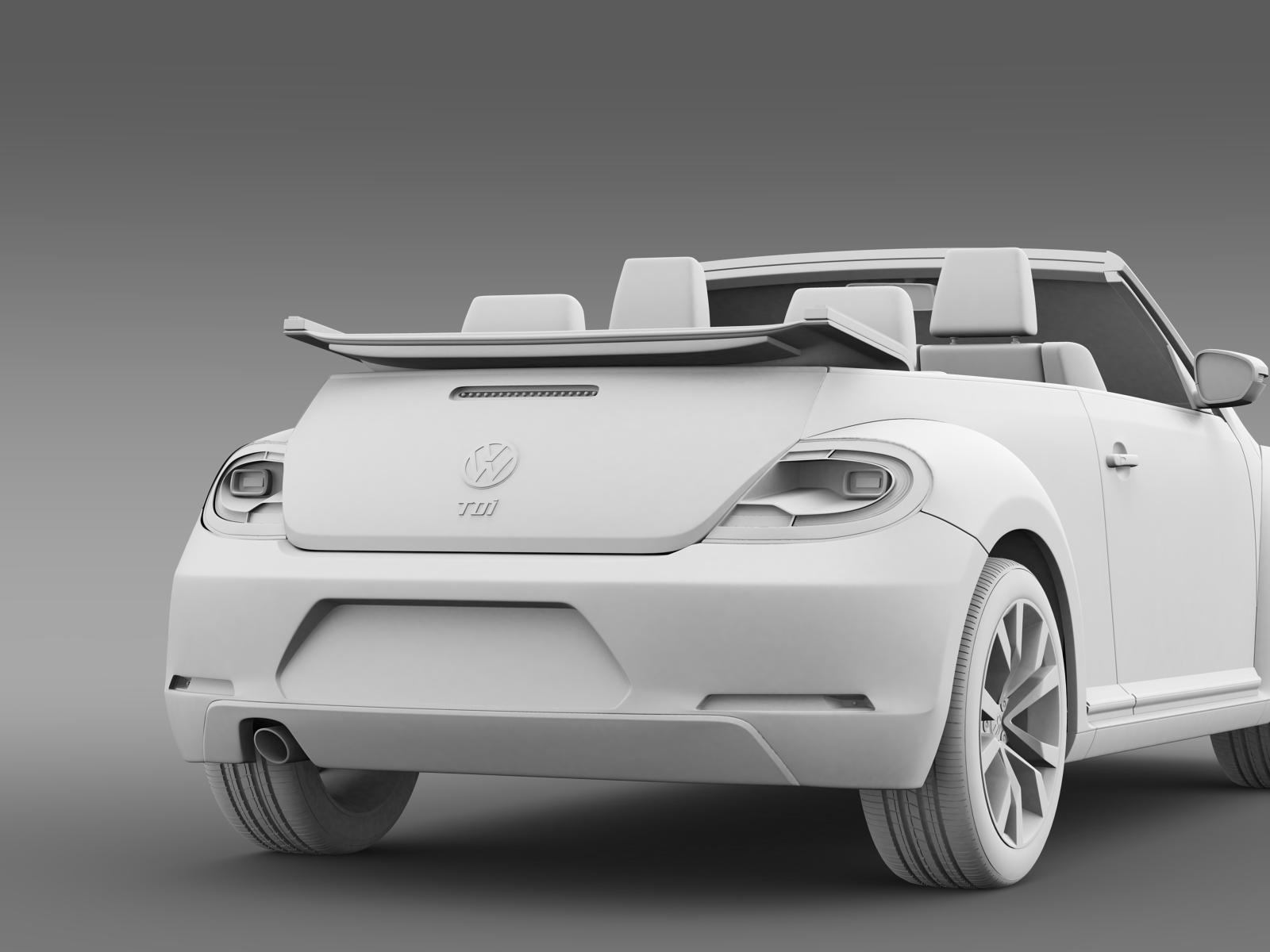 vw beetle tdi cabrio 2014 3d model. Black Bedroom Furniture Sets. Home Design Ideas