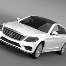 AMG Mercedes Benz S 500 W222 2013 3D Model