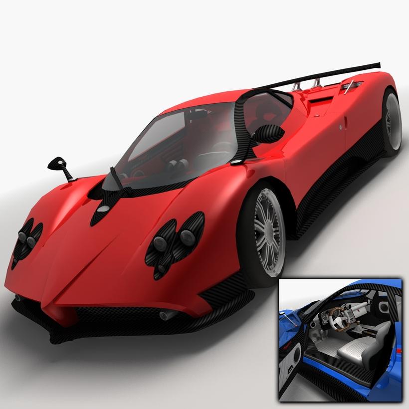 Pagani Zonda F Low Poly 3D Model