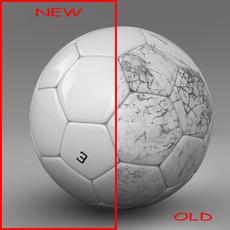 Soccerball white 3D Model