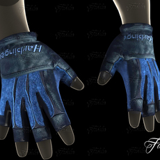 Weight lifting gloves 2 3D Model