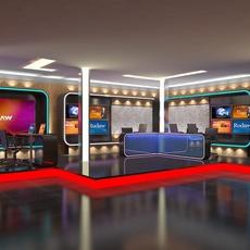 TV News Room Studio 016 3D Model