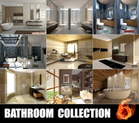Bathrooms collection 6 3D Model