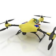 Ambulance Drone 3D Model