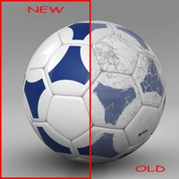 Soccerball blue white 3D Model