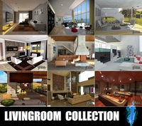 Livingrooms Collection 1 3D Model