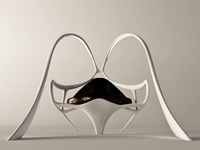 Futuristic armchair Bunny 3D Model