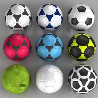 Set soccerball 3D Model