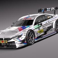 BMW M4 DTM 2015 Race Car 3D Model
