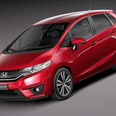 Honda Fit 2015 3D Model