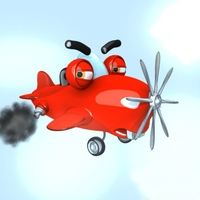 Airplane cartoon 3D Model