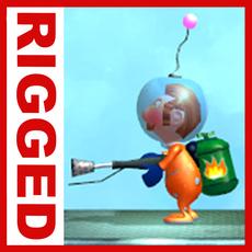 Astronaut cartoon rigged 3D Model