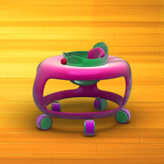 Baby Walker Cartoon 02 3D Model