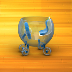 Baby Walker Cartoon 03 3D Model