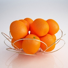 Basket oranges 3D Model