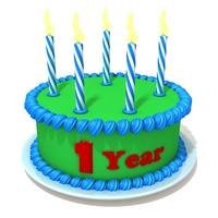 Birthday cake 02 3D Model