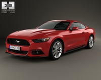 Ford Mustang GT 2015 3D Model