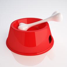 Bowl Pet and Bone 3D Model