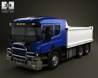 Scania R 420 Tipper Truck 2004 3D Model