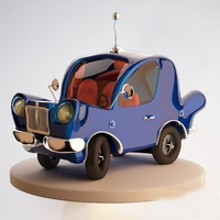 Car Cartoon 3D Model