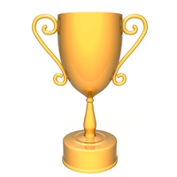 Champion golden trophy 3D Model