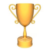 Champion golden trophy 3D Model