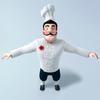 Chef cartoon 3D Model