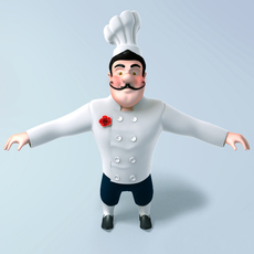 Chef cartoon 3D Model