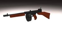 Thompson 1928 Submachine gun 3D Model