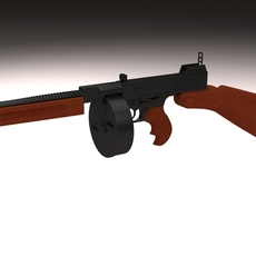 Thompson 1928 Submachine gun 3D Model