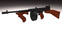 Thompson 1928 Tommy Gun 3D Model