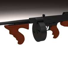 Thompson 1928 Tommy Gun 3D Model