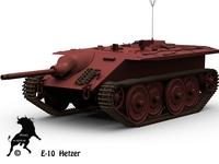 E-10 Hetzer 3D Model