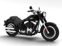 Harley-Davidson FLSTFB Fat Boy Lo 2012 3D Model