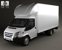 Ford Transit Luton Tailift Van 2012 3D Model