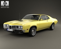 Mercury Montego Coupe 1970 3D Model