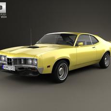 Mercury Montego Coupe 1970 3D Model