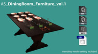 AS DiningRoom Furniture vol.1 3D Model