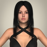Realistic Sexy Teen Girl 3D Model