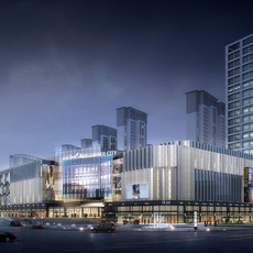 City shopping mall 005 3D Model