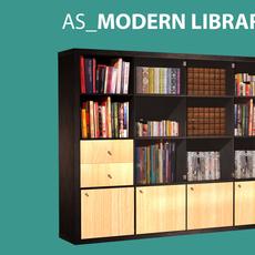 AS  Modern Library v.1.0 3D Model