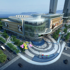 City shopping mall 009 3D Model