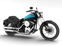 Harley-Davidson FXS Softail Blackline 2012 3D Model