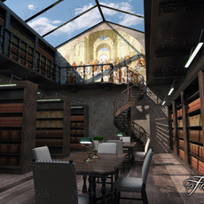 Library 01 3D Model