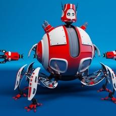 Robot D09E 3D Model