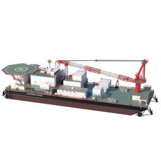 Offshore Barge 3D Model